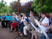 Palace Band playing in The Grove
