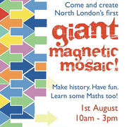 Giant Magnetic Mosaic for kids of all ages