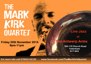 Live Jazz with The Mark Kirk Quartet at The Antwerp