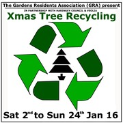 Last chance to: Xmas tree recycling until 24th Jan