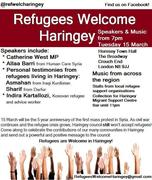 Refugees Welcome Haringey event