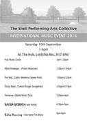 International Music Event Line Up for this Saturday 10th Sep. 1-6pm
