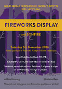 Wildfire Fireworks and Bonfire, Bounds Green