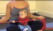 Mum and baby Pilates class