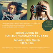 Mobile photography workshop for kids - introduction to portrait & light, 18th of March