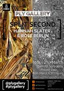 'SPLIT SECOND' Hannah Slater & Rose Berlin exhibition