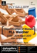 'Objectification of Women' MJ Waldner exhibition