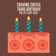 Craving Coffee Third Birthday Party