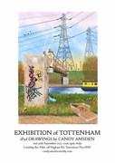 Exhibition of Tottenham iPAd drawings by Candy Amsden