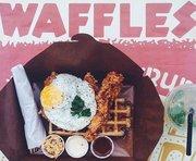 Tottenham Social w Waffle Doodle-Doo (Savoury Waffles)