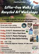Litter-free Home with Creative Recycling: IV and last session - Glass painting!