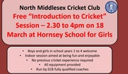 "Free ""Introduction to Cricket"" for Boys and Girls"