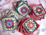 Learn ways of joining crochet granny squares together