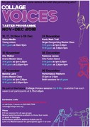 COLLAGE VOICES TASTER PROGRAMME!