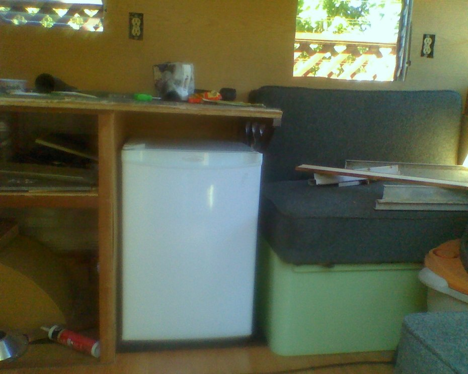 fridge is installed