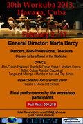 20th Workuba 2013 (International Modern & Afrolatin dance Workshop) Havana, Cuba