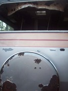 View to rear with window removed