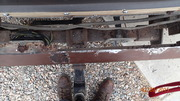 Rear Bumper After Cutting Off Rust
