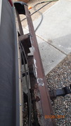 Rear Bumper After Cutting Off All Rust
