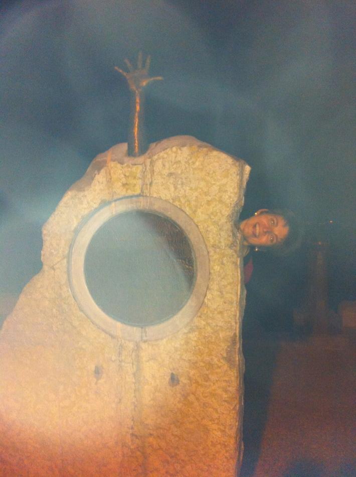Sue Lickorish in the Rock