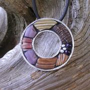 """Duffy Brown: """"Shell and Amethyst Pendant"""""""