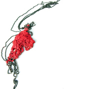 Coral Red Single Link Necklace01, 2009. Liana Pattihis