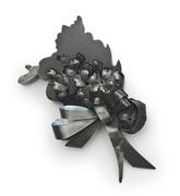 Corsage Verbena-brooch-2007 steel, nail polish
