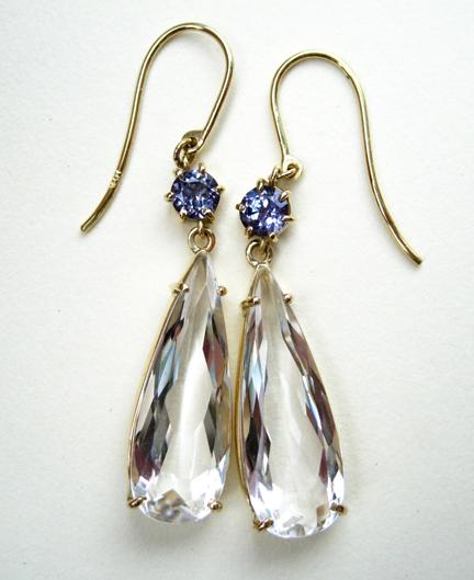 Quartz-Spinel-Earrings
