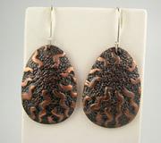 Electroformed earrings