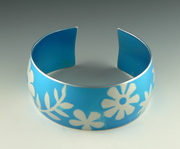 Happy flowers - sky blue