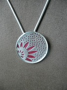 Silver and Copper Sunflower Necklace