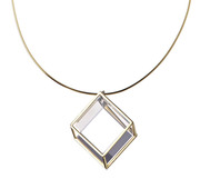 Rhombohedron Pendant
