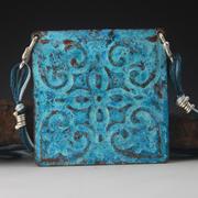 tin tile blue b 2