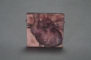 Heart Painting in enamel