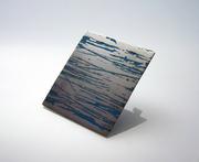 Graffi Aluminum Brooch blue