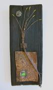 """""""Ikebana in steel"""" bee nest"""