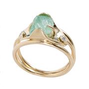 Emerald crystal ring