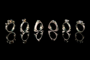 Untitled (tension set rings)