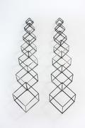 Coalescing Cubic Chain Earrings
