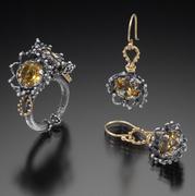 Chiaroscuro Ring and Earrings