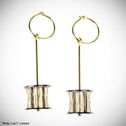 10-08.  Luis Méndez Artesanos - Silver & 18k gold earrings