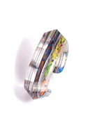 Graffiti Beveled Cuff (3/4 View)
