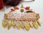 my metal name badge - close-up