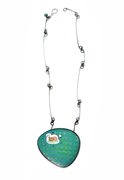 Enamel and Tin Necklace