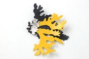 Layered lichen brooch