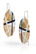 Wood and Plastic Earrings