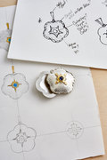 Locket with sketches