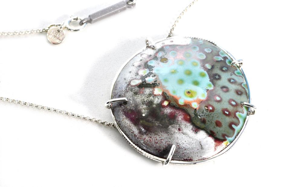 enamel frost necklace