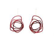 Powder coat rose earrings