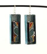Blue fruitcake earrings